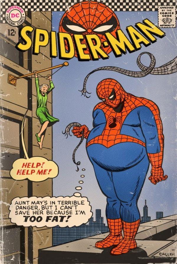 Päivän kuva: Olisiko se laihdutuskuurin paikka, Spider-Man?