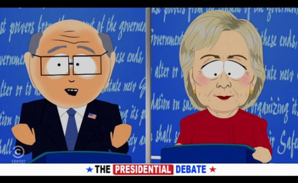 Donald Trumpin raiskannut South Park palasi rikospaikalle